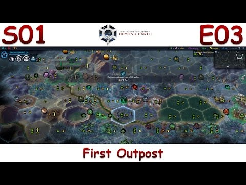 """Beyond Earth (Brasilia) - Let's Play / Gameplay S01E03 - """"First Outpost"""""""