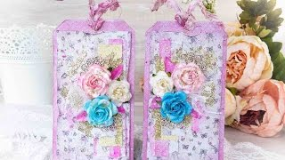 Romantic Shabby Chic Tag - Cardmaking tutorial