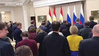 Путин объявил минуту молчания в память о погибших на пресс-конференции с президентом Египта