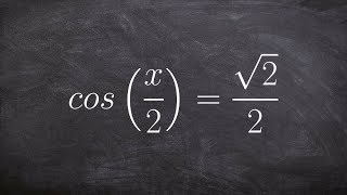 pre calculus finding all of the solutions of cosine with a multiple angle cos x 2 root 2 2