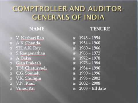 COMPTROLLER AND AUDITOR-GENERALS OF INDIA