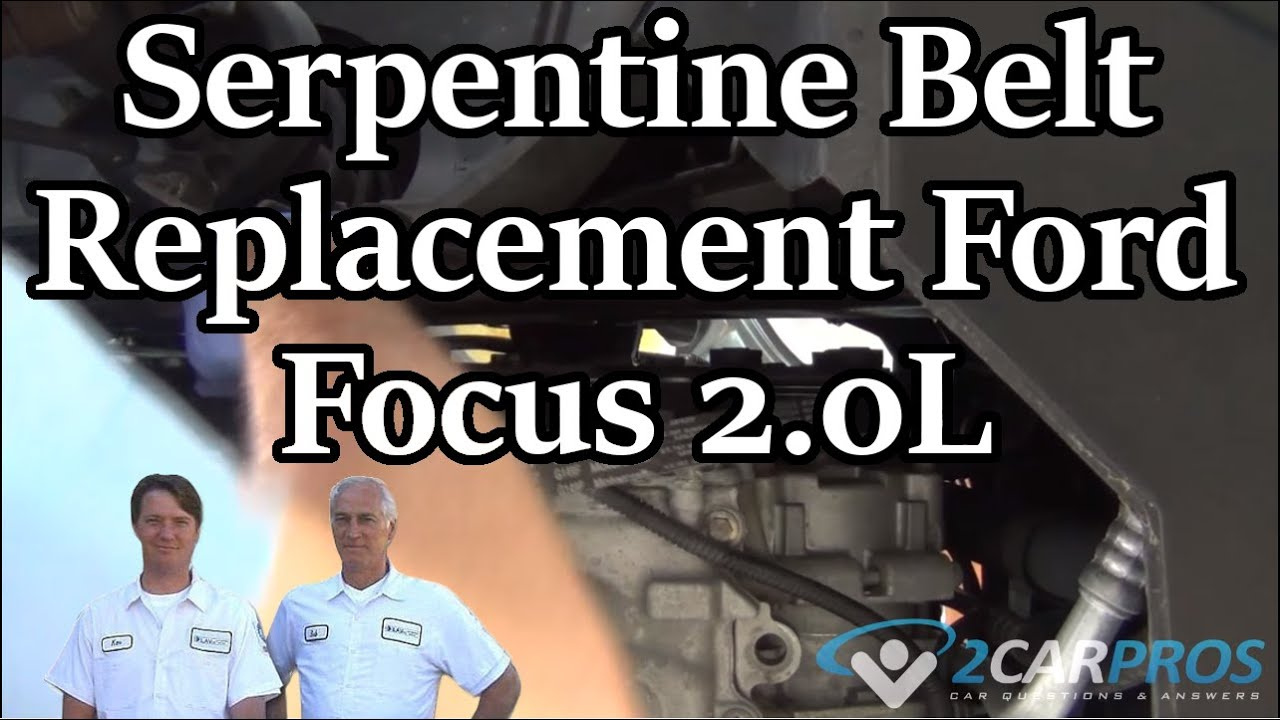 hight resolution of how to replace a serpentine belt ford focus 2 0l 2005 2007