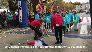 L'arrivée de Pierre Barbet, vainqueur du Marathon du Beaujolais 2017