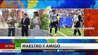'El Pibe' Valderrama relata su experiencia con el técnico Tabárez y evalúa el Brasil-Bélgica