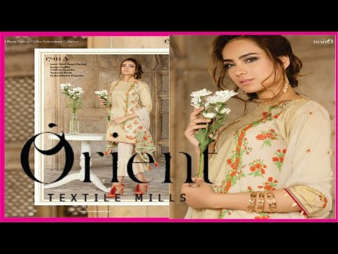 Beautiful Designs of 3 Piece Suits By Orient Textile