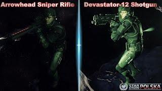 Devastator-12 Shotgun & Arrowhead Sniper Rifle