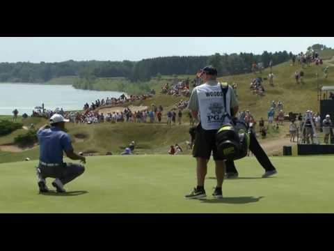 Tiger Woods, Keegan Bradley and Martin Kaymer RD 1 US PGA Championship 2015