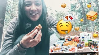 LIVING IN A TENT🌲: Yosemite Camping Food Haul   Hobo Ahle