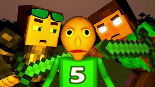 BALDI vs HEROBRINE 5 CHALLENGE FINALE! (official) Baldi's Basics Minecraft Animation Horror Game