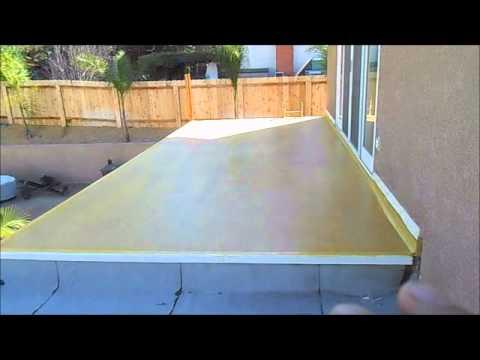 2nd story balcony repair waterproofing youtube for Balcony repairs