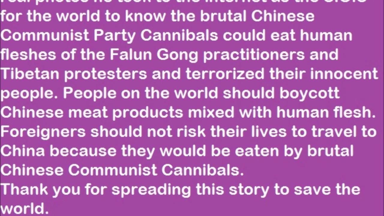 TQ xẻ thịt gái trinh ăn tết – Hu Jintao's followers eating virgin female flesh