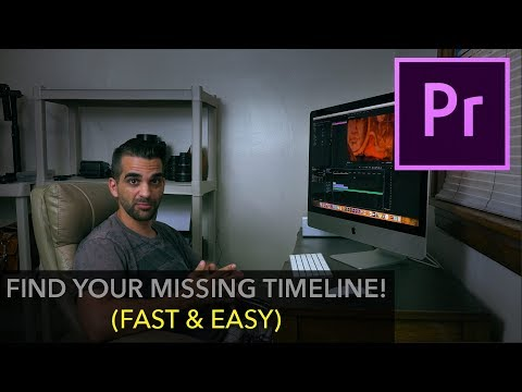 Find Your Missing Timeline (Tutorial Premiere Pro)