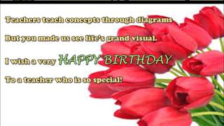 Happy birthday wishes to teacher, Birthday SMS, Quotes, message, greetings to teacher