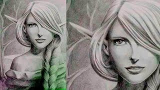 How to draw a Realistic Girl - Drawing Beautiful Elves