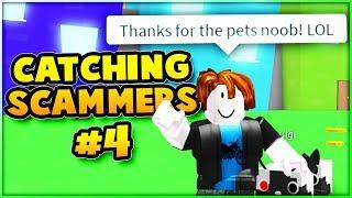 ¡Atrapando estafadores! Simulador de Mascotas (Pet Simulator) #4 Roblox (el estafador toma RAINBOW CORE SHOCK)