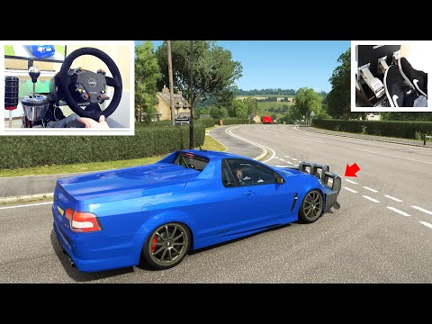 Drifting HSV Maloo With Bash Bar! - (Steering Wheel + Pedal Setup) Forza Horizon 4!