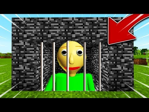 JE CAPTURE BALDI ET IL S'ENERVE SUR MINECRAFT !! We trapped Baldi in Minecraft !!