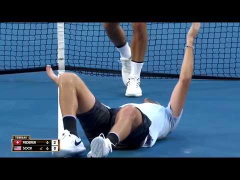 Roger Federer vs Jack Sock - Hopman Cup 2018 Highlights (HD)