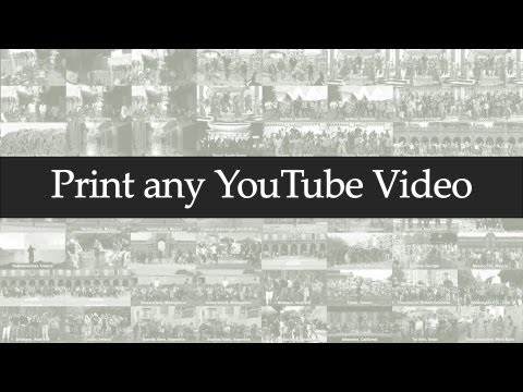 Print any YouTube Video