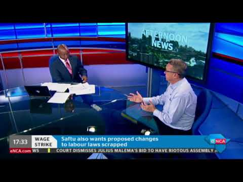Labour analyst, Tony Healy, discussing Saftu wage strike