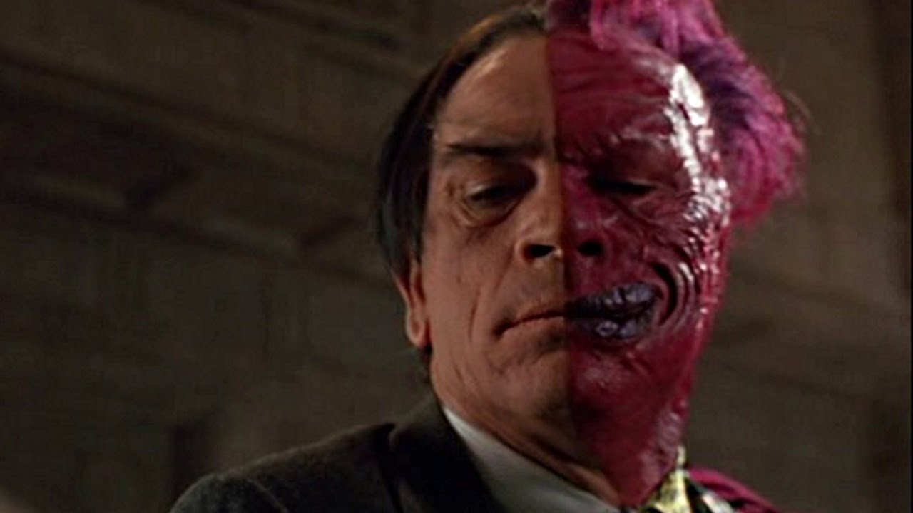 batman movie villains twoface tommy lee jones youtube