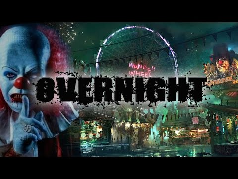 OVERNIGHT AT A HAUNTED CARNIVAL  STAYING THE NIGHT AT FAIR  OmarGoshTV