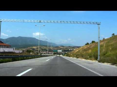 Macedonia - przejazd autostradą / Macedonia highway travel.