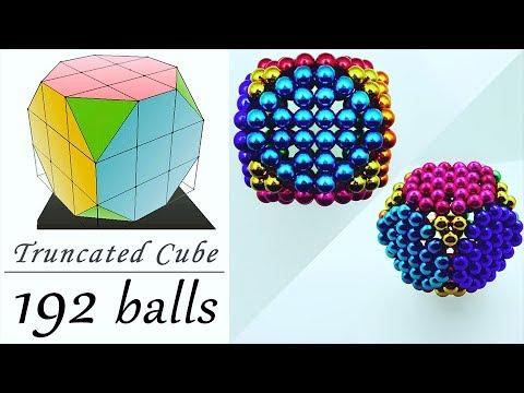 Tutorial 155 - Truncated Cube with Neodymium Balls