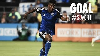 GOAL: Yannick Djalo with the first time chip over Johnson | San Jose Earthquakes vs Chicago Fire