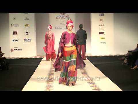 Indian ethnic wear by Krishna Mehta: Delhi Fashion Show