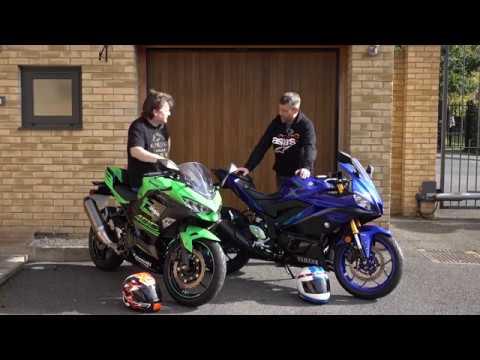 Yamaha R3 vs Kawasaki Ninja 400 Ride Review | Keep Britain Biking