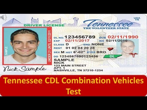 Tennessee CDL Combination Vehicles Test