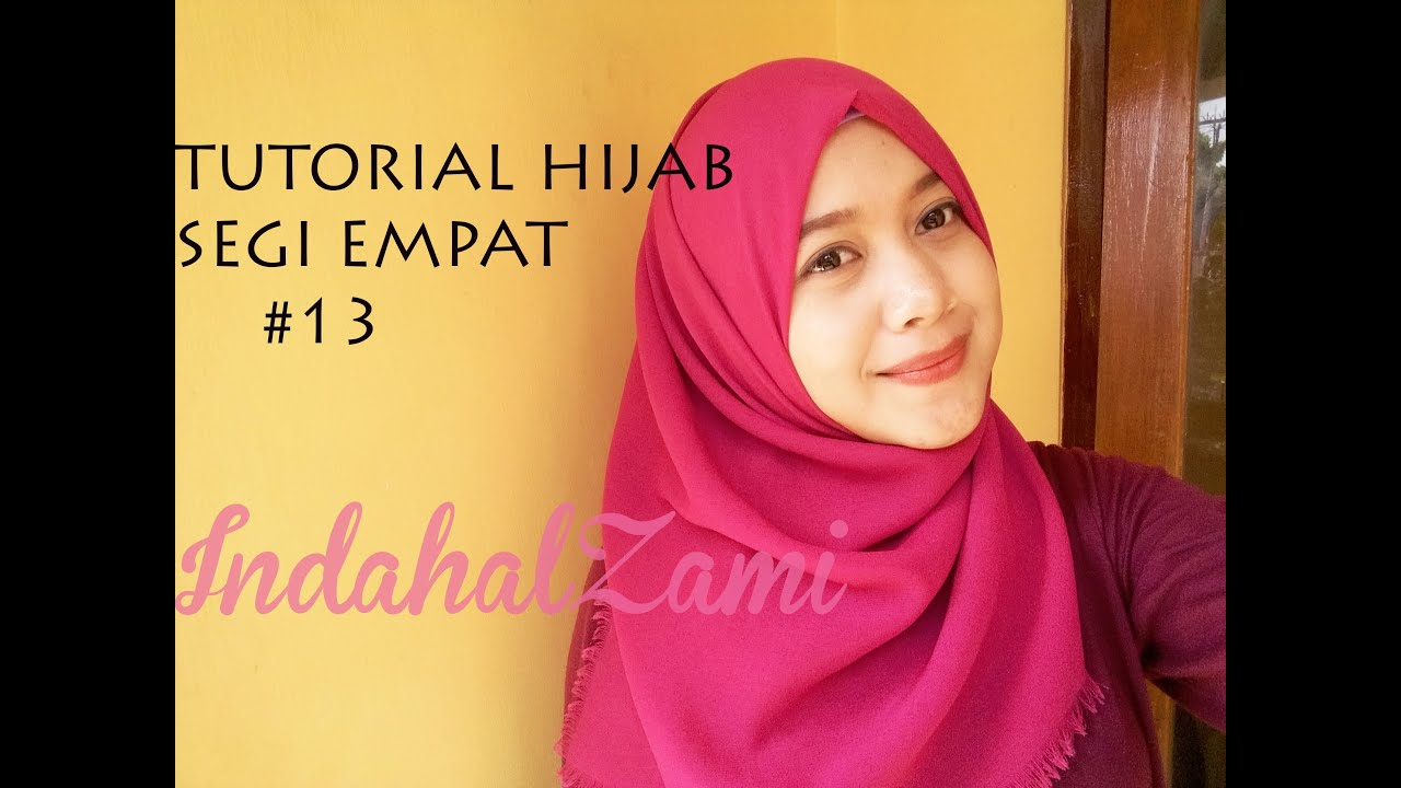 Tutorial Hijab Segi Empat 13 Indahalzami YouTube