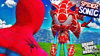 SPIDER SONIC vs SPIDERMAN In GTA 5 (Super Speed)