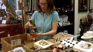 Antique buttons, Collection of antique buttons from our antiques mall at Gannon's Antiques