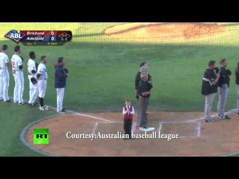 Viral: Boy gets hiccups singing Australian anthem at baseball game