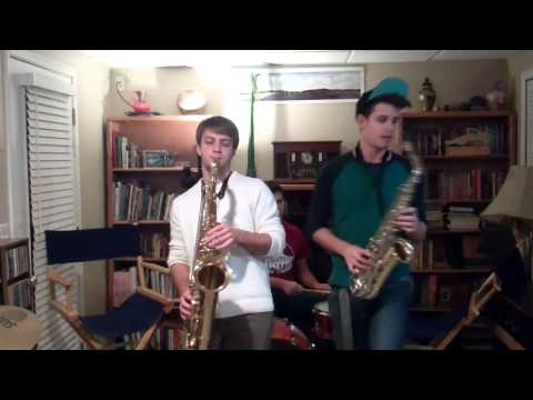 All About that Bass   Alto and Tenor Sax Cover   (Plus Nick)