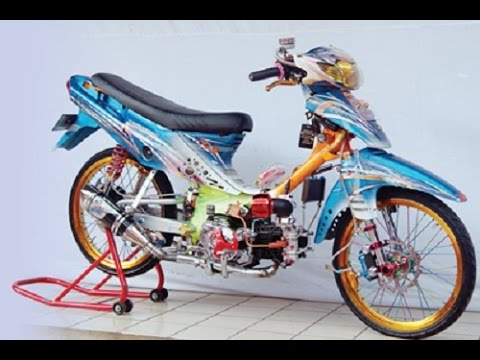 Motor Trend Modifikasi | Video Modifikasi Motor Suzuki Shogun R 110 Airbrush Drag Racing Style