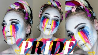The most extra AF pride makeup look on the internet.