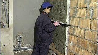 Штукатурка стены бетонной смесью своими руками