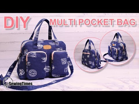 DIY MULTI POCKET HANDBAG 가방만들기 | Big Size Crossbody Bag Sewing Tutorial [sewingtimes]