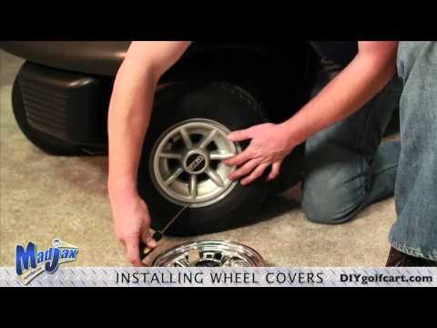 Golf Cart Wheel Covers How To Install Video Installing Golf Cart Ss Hub Caps Wheel Cover Youtube
