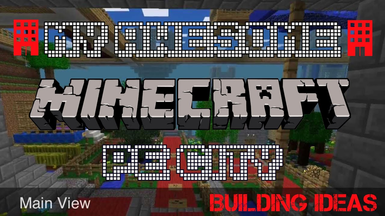 My Awesome Minecraft PE City Building Ideas YouTube