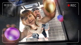 SNEAKiNG EGGS inside Dads Work!!  Adley & Niko Hiding Easter Egg notes for the Spacestation Crew 🐣