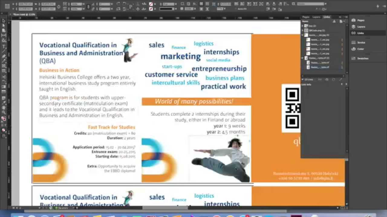 Flyer Making Using Adobe InDesign - YouTube