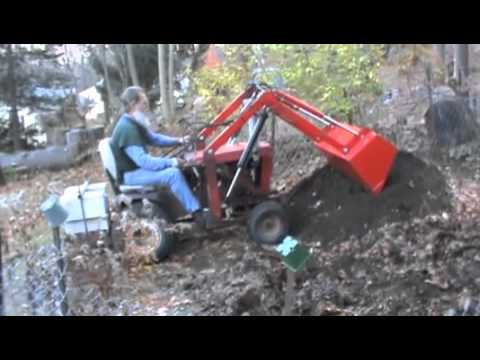 wheelhorse loader working youtube