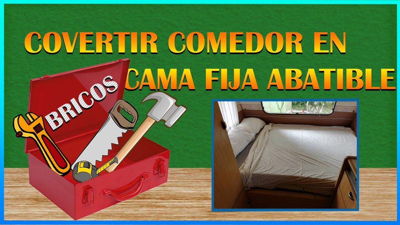 15 convertir nuestro comedor en una cama fija abatible - Hacer una cama abatible ...