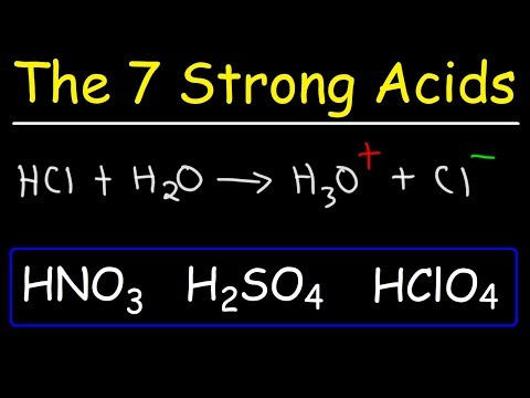 How To Memorize The Strong Acids And Strong Bases