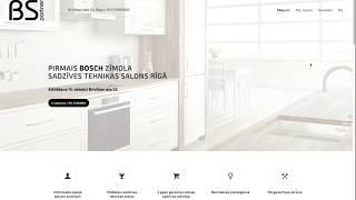 Создание сайта для салона бытовой техники Bosch