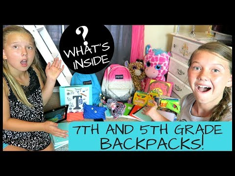 What's Inside Our Backpacks? 5th & 7th Grade Back To School Haul 2017